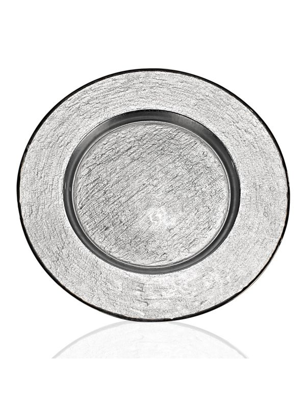 "Silver 13"" Glamour Charger"