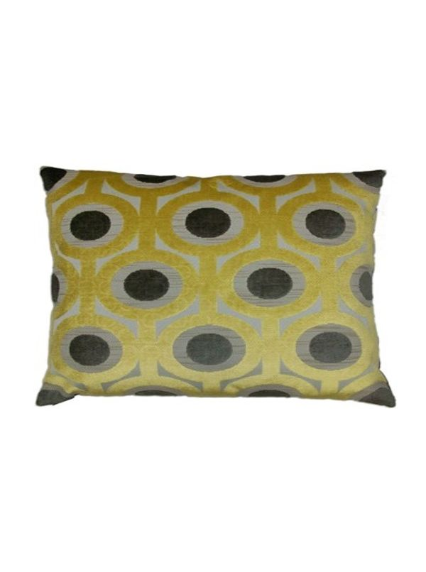 Kali Square Saffron Pillow by Canaan Company