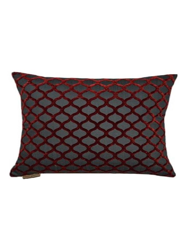 Preston Square Red Pillow by Canaan Company