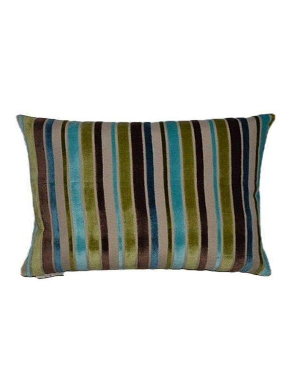 Ribbon Square Turquoise Pillow by Canaan Company