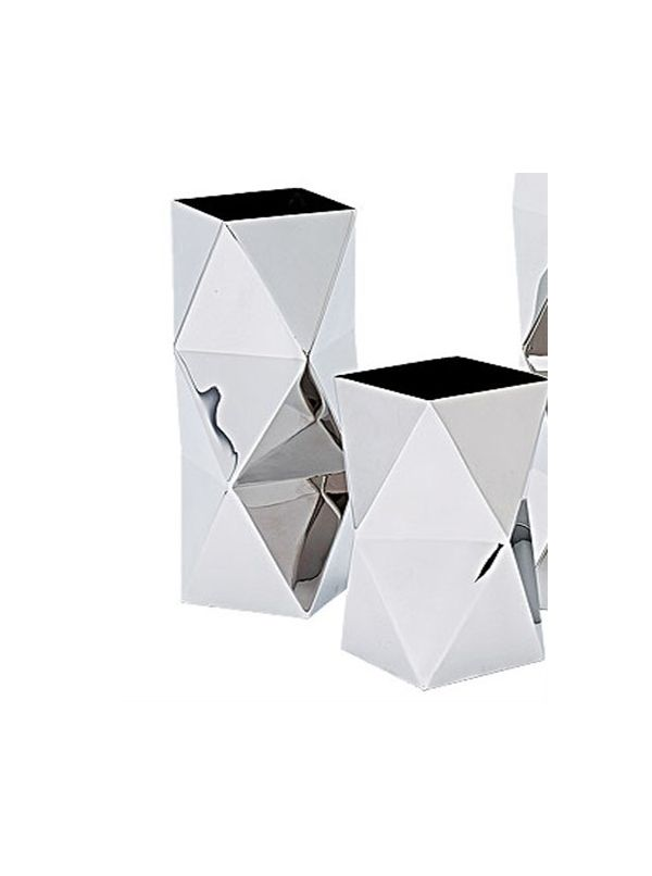 Crystal Square vase, small size, by Riado