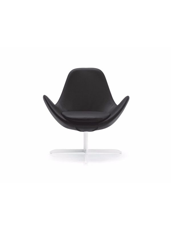 Electa leather chair by Calligaris