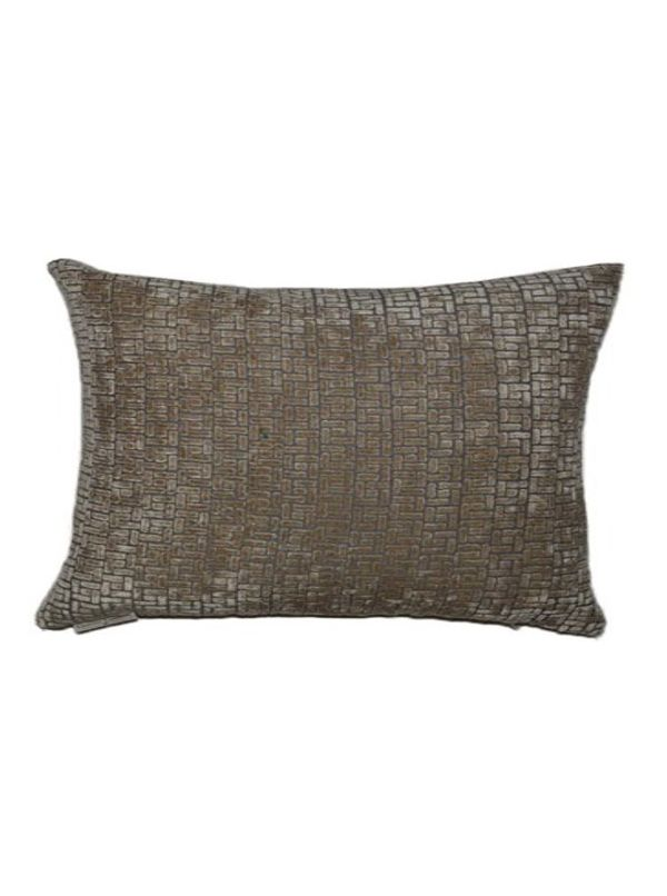 Jenga Wheat Square Pillow by Canaan Company