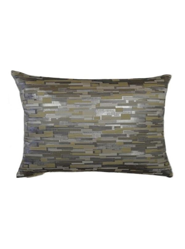 Maize Square Silver Pillow by Canaan Company